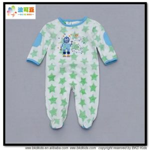 100% Cotton Baby Garment Footed Toddlers Romper pictures & photos