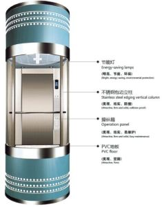 Energy Saving Peaceful Panoramic Elevator pictures & photos