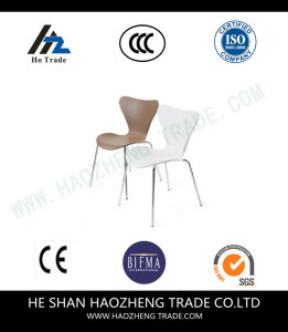 Hzpc010 Plastic Seat Plate Metal Feet Fast Eat Chair pictures & photos