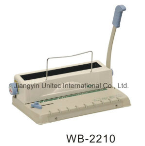 Office or Home Use Manual Double Loop Wire Book Binding Machine Wb-2210 pictures & photos