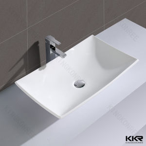 Artificial Stone Solid Surface Single Bathroom Sink pictures & photos