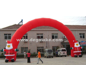 Inflatable Entrance Arch with Santa Claus for Festival pictures & photos