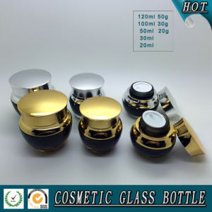 Amber Gradient Skincare Glass Cosmetic Containers Bottle pictures & photos