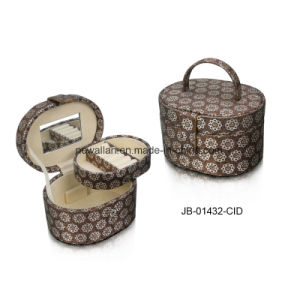Cute Shiny Material Oval Shape Jewelry Gift Box Jewelry Box pictures & photos