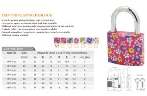 Customize Painted Plating Padlock pictures & photos