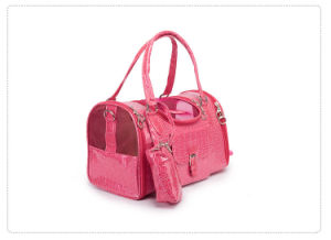 Design Quality PU Leather Hot Pink Pet Hand Bag pictures & photos