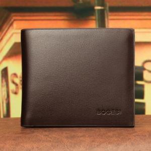 Classic Korean Pure Plain Thin Short Wallet Burgos Genuine Man Purse Wallet Wallet pictures & photos