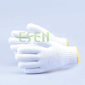 Protective Cotton Knitted Hand Gloves Manufacturer in China pictures & photos