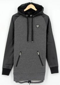 Ss17 Street Style Longer Men Cotton Fleece French Loopback Zipthrough Sweatshirts Hoodies