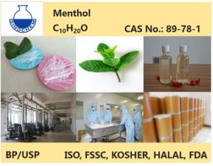 Menthol Crystal 99.5%/Peppermint Oil 50% Bp/USP Fssc/Kosher/FDA pictures & photos