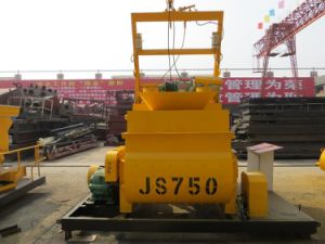 Horizontal Double Ribbon Js750 Concrete Mixer for Building Material Powder pictures & photos