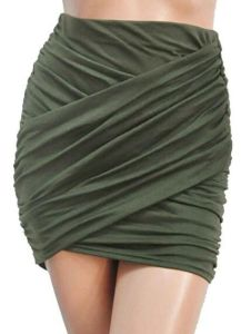 Women Sexy Wrap Runched Stretch Draped Short Mini Pleated Skirts pictures & photos