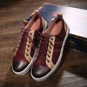 Leather Sneaker Casual Shoes Comfort Footwear for Men Shoes (AKPX23) pictures & photos