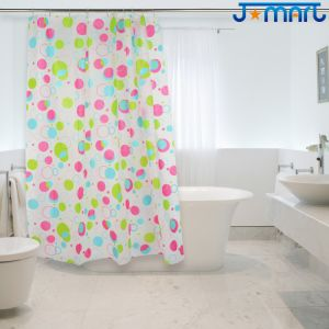 Colorful Dots Eco-Friendly PEVA Shower Curtain pictures & photos