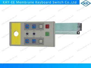 Pillow Embossed Keys Membrane Switch with ESD Shield and 2 Tails out with AMP Housing pictures & photos