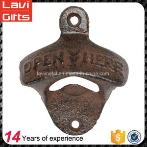 Custom Copper Beer Cast Iron Wall Mounted Bottle Opener pictures & photos