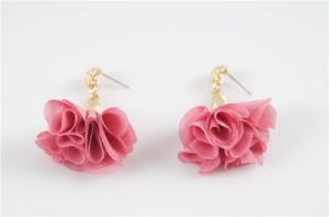 Fabric Flower Earring pictures & photos