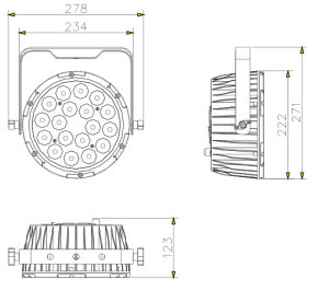 Indoor Aluminum 15W Rgbaw Wash High Power LED PAR64 pictures & photos