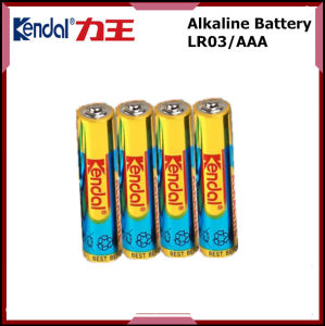Cheap Powerful PVC Jacket Lr03 1.5V AAA Alkaline Battery pictures & photos