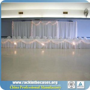 White Chiffon Wedding Backdrop Stand For Sale RK TS610