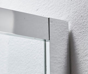 Stainless Steel Tempered Glass Shower Door with Stainless Steel Handle and Roller (K-SS13) pictures & photos