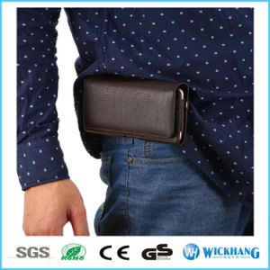 Horizontal Leather Waist Belt Clip Holster Wallet Phone Case pictures & photos