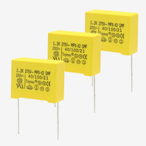 100NF 450V Dipped Metallized Polypropylene Film X2capacitor with Soft Wire pictures & photos
