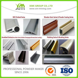Manufacturer Wood Grain Polyester Aluminum Profile Powder Coating pictures & photos