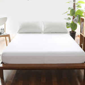New Arrival Wholesale Comfortable Plain White Fitted Sheet (DPFP8050) pictures & photos
