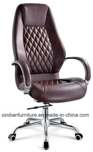 High Back Adjustable Ergonomic Swivel Office Leather Chair pictures & photos