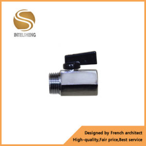 Mini Ball Valve 1/4 Inch Ball Valve Brass with Chrome pictures & photos