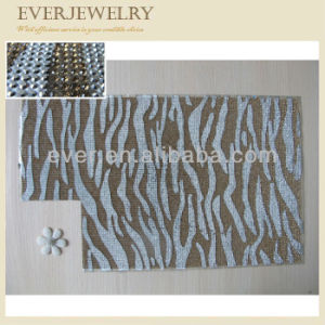 Zebra Print Gold and Crystal Rhinestone Sheet for Bags pictures & photos