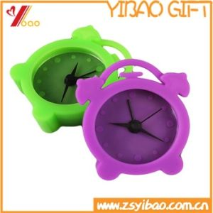 Promotion Gifts Multi-Color Mini Lovely Silicone Alarm Clock for Christmas Gift pictures & photos