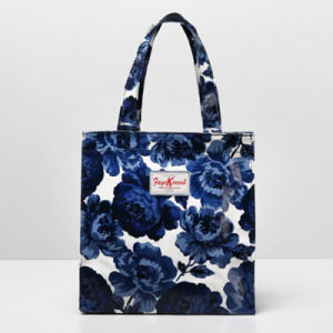 Small Size Blue Flowers Canvas Shoulder Bag (2293-23) pictures & photos