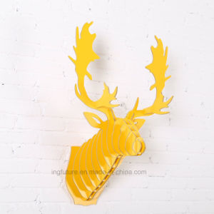 Hot Selling Moose Head Hanging Decoration Simple Creative Wooden Crafts pictures & photos