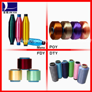 500d/288f Polyester Filament Yarn Dope Dyed DTY pictures & photos