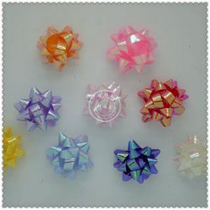 Wholesale Custom Iridescence Gift Star Bow for Decoration pictures & photos