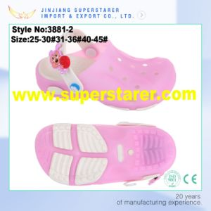 EVA Jelly Kids LED Light Garden Shoes Colorful Holey Clogs pictures & photos