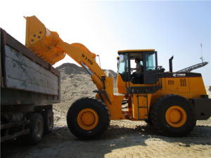 Rated Capacity 5000kg Joystick 3m3 Bucket Wheeled Front End Loader pictures & photos