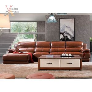 Top-Grain Leather Sofa with Corner (1290A) pictures & photos