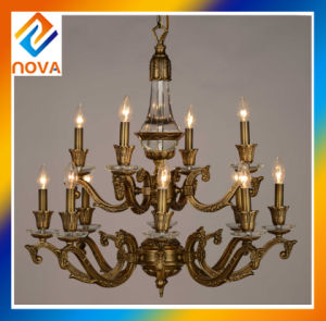 6+4 Heads Candle Chandelier Lamp Bronze Ceiling Light Manufacturer pictures & photos