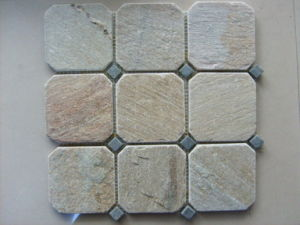 Slate Tile. Slate Flagstone Tiles on Mesh for Outdoor pictures & photos