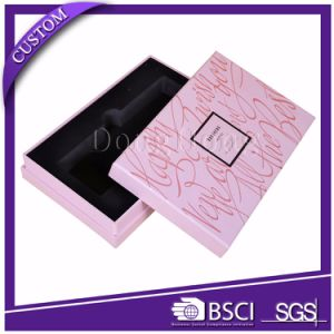 Plain White Luxury Paper Cosmetics Box with Tray Inserts pictures & photos