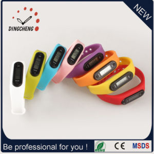 New Pedometer Watches Clock Digital Wristwatch Silicon Watch (DC-003) pictures & photos