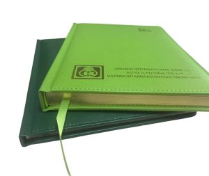 Customzied Green PU Leather Hardcover Diary /Notebook pictures & photos