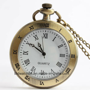 Classic Analog Simple Design Pocket Watch with Chain pictures & photos