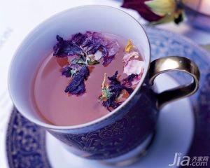 Purple Flower Tea Dried Violet Flowering Herbal Tea