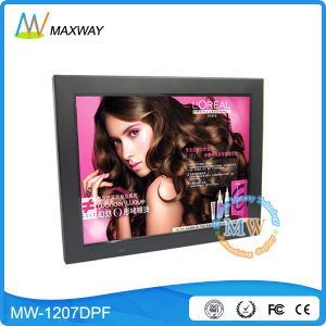 Plastic MP3 MP4 Loop Video 12 Inch Digital Photo Frame with Battery pictures & photos