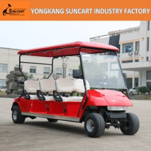 Powerfull Red Color Electric 6 Person Golf Cart, Sightseeing Golf Cart, Cheap Golf Cart for Sale pictures & photos