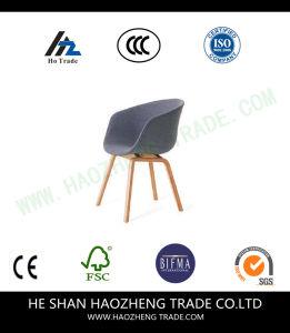Hzpc004 Cloth Fabric Solid Wood Chair Foot - Dark Grey pictures & photos